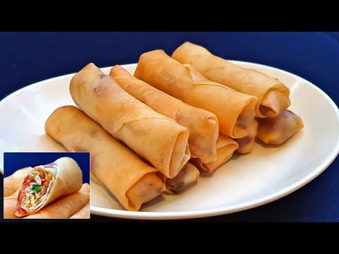 easy-chicken-spring-rolls-recipe-|-recette-rouleaux-de-printemps-poulet