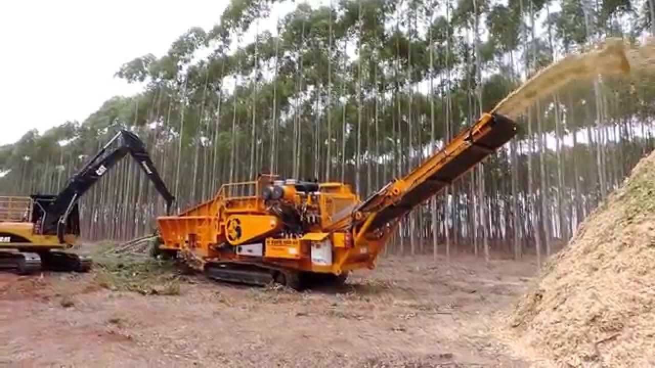 Cbi Magnum Force 6400 Wood Biomass Chipper Youtube