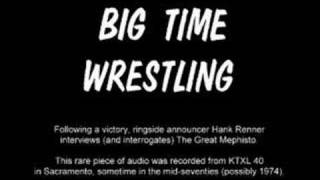 KTXL Big Time Wrestling: The Great Mephisto (Audio Only)