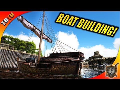 🚩 40K Subscribers! BOAT BUILDING AND TRADING! Ark: Ragnarok Survival Plus E6  [Live Stream]