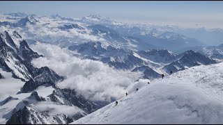 Skiing the 15,778-ft Mont Blanc