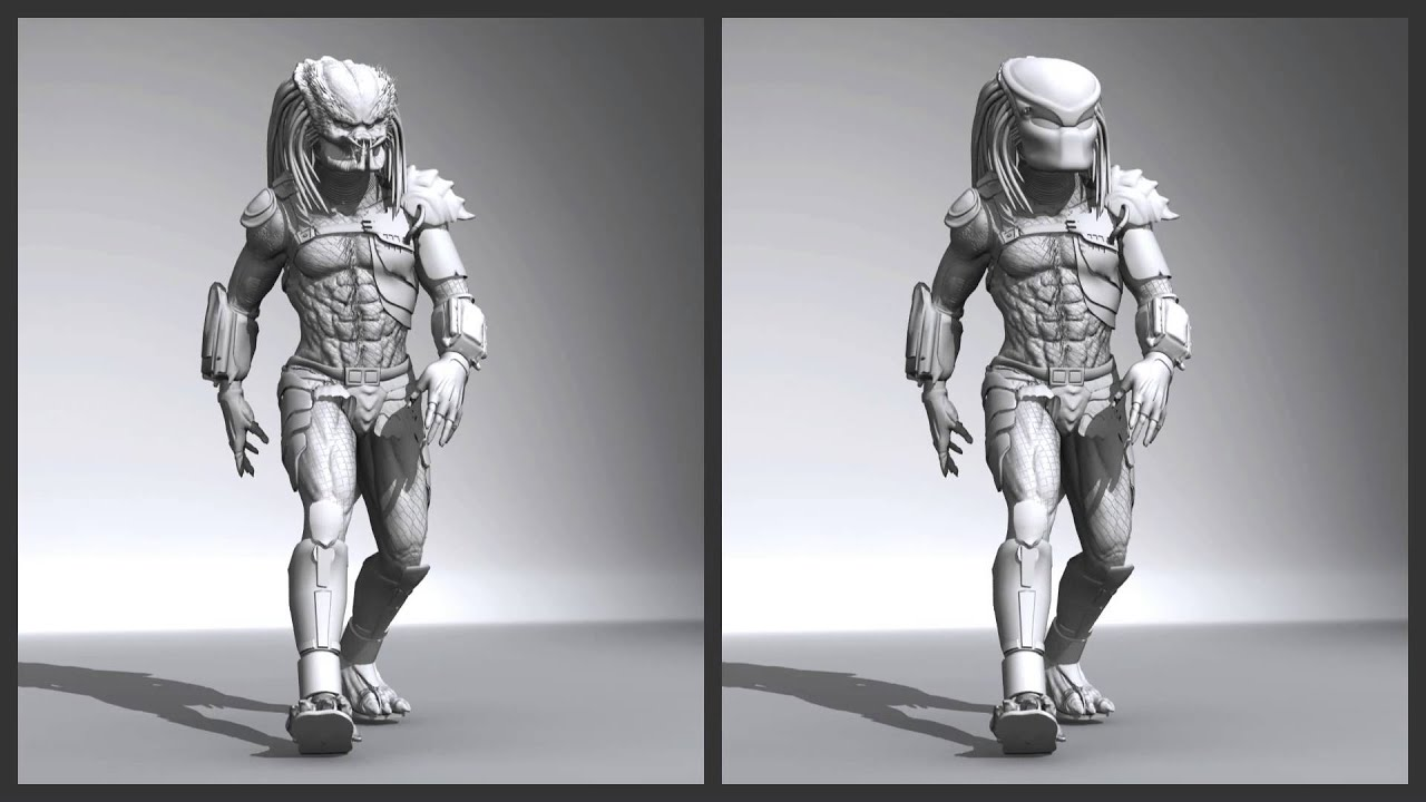 The Predator 3d Model Full Rig And Animation Test Wip