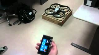 AR. Drone with a Windows Phone (Lumia 800 Test) - www.noel75.it.flv