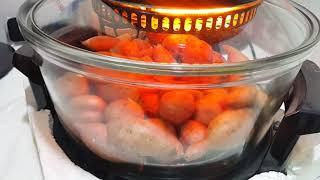 광파오븐을 이용해서 호박고구마로 맛있는 군고구마로 만들…