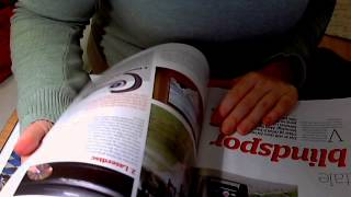 ASMR: Reading a magazine and chewing gum (no whispering)