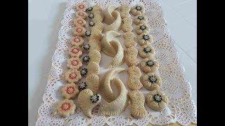 حلويات العيد  تشكيلة من حلويات اللوز بريستيج بخمس أشكال بعجينة واحدة