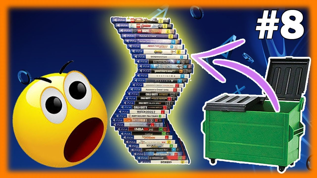 Dumpster Diving Gamestop PS4 Games Found! Night 8 - YouTube