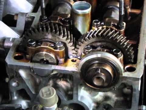 How to install cam shafts timing belt and set timing for