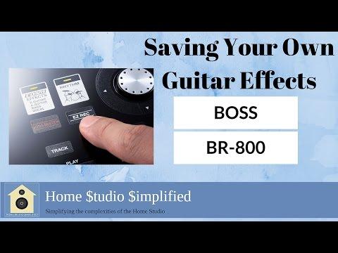 Saving BOSS Guitar Settings