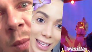 """Baixar Festa Na Praia🏖️🎶 Anitta Se Assusta Com Olho Vermelho Do Seu Maquiador 😂👁️ Festa De """"Kisses"""" 🎤"""