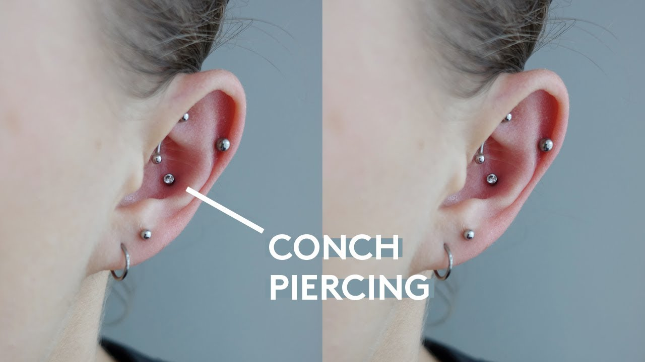 My Conch Piercing Experience Pain Cleaning Healing Youtube