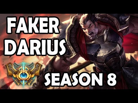 FAKER Plays DARIUS Vs A KOREAN RYZE - Ranked Challenger
