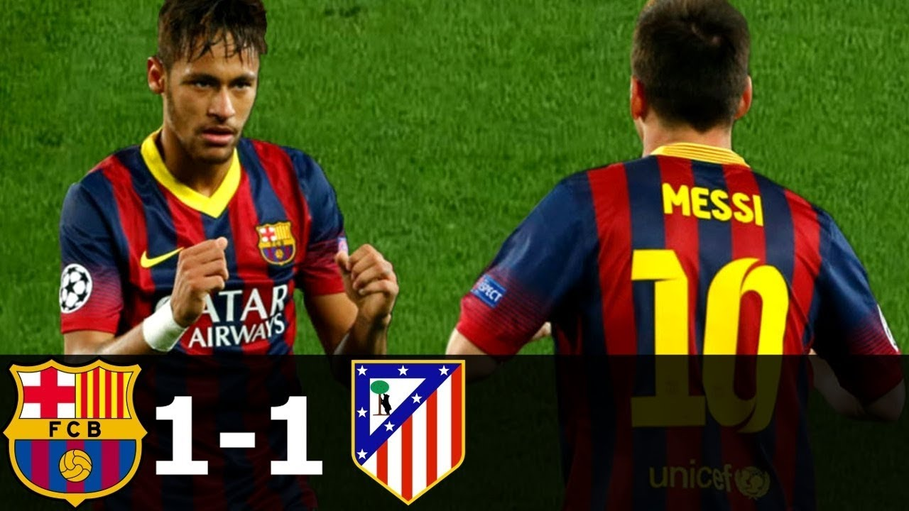 Download FC Barcelona vs Atletico Madrid 1-1 All Goals & Highlights (UCL) 2013-14 HD 720p