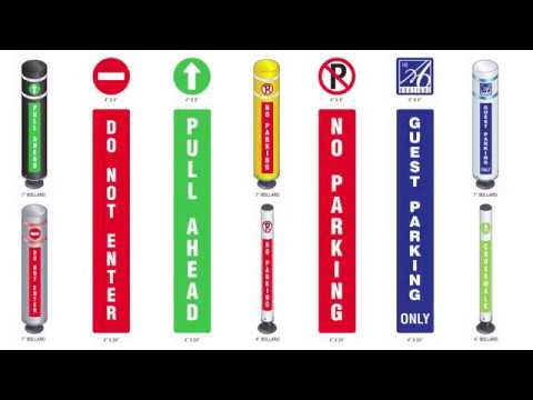Gorilla Post Magnetic Base Message Bollards & Sleeves – ParkingZone