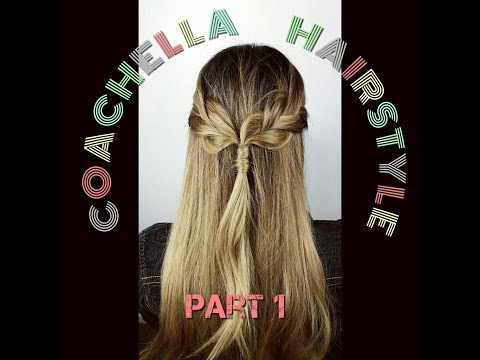 COACHELLA HAIRSTYLE! Braided Half Hair Part 1 thumbnail