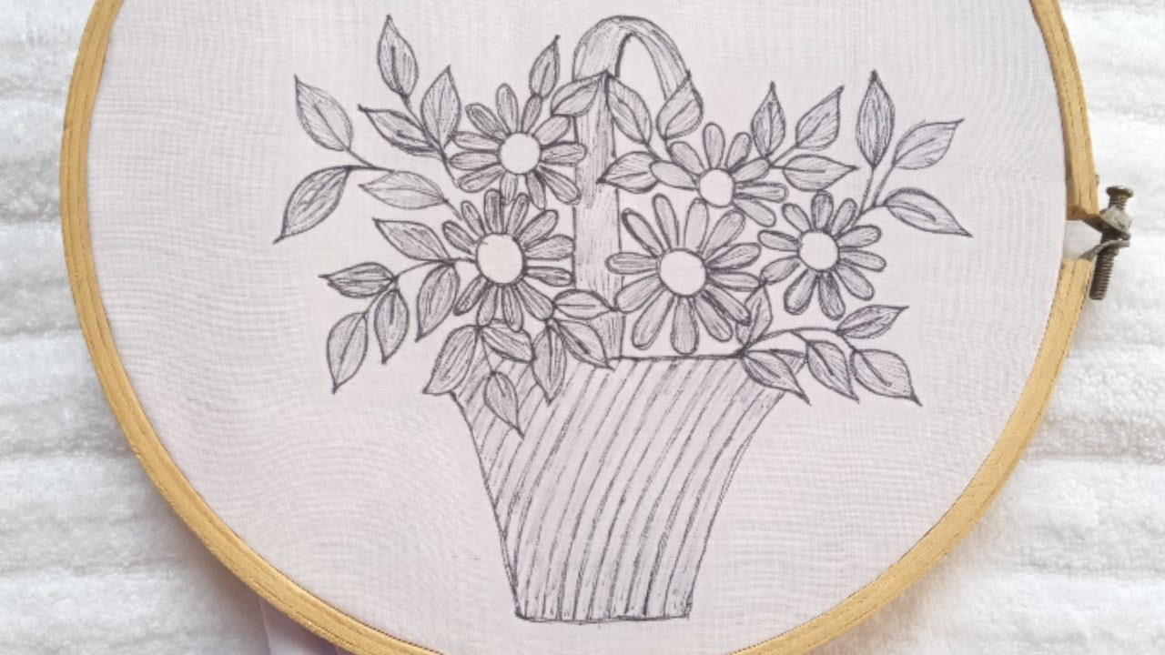 Very easy and beautiful hand embroidery design_Easy flower embroidery tutorial_simple stitches