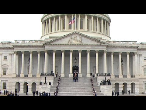George H.W. Bush honored on Capitol steps ahead of state funeral