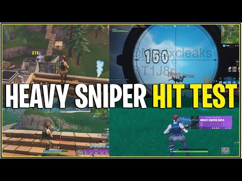 *NEW* Fortnite: LEAKED HEAVY SNIPER GAMEPLAY! *Hit test/Kill Test* | (1 SHOT KILLS ALWAYS!)