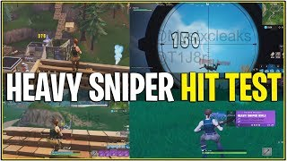 Fortnite: LEAKED HEAVY SNIPER GAMEPLAY! Test de frappe/Test de tuer (1 COUP TUE TOUJOURS!)