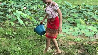 Amazing Smart Girl Catch A Lot of Fish at Siemreap - Easy Catch Fish 2017