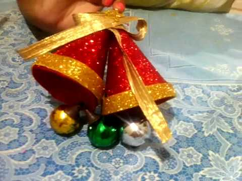 how to make decorative bell new 2017 youtube - Christmas Bells Decorations