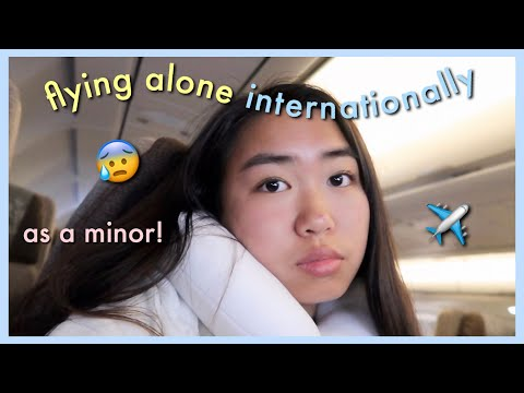 FLYING ALONE INTERNATIONALLY FOR THE 1ST TIME (as a minor)