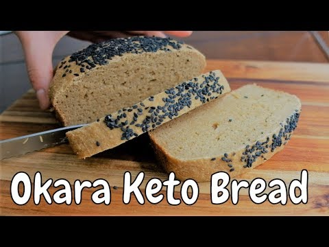 Baked Keto Friendly Healthy Bread With Okara After Making Homemade Soy Milk [Gourmet Apron 416]