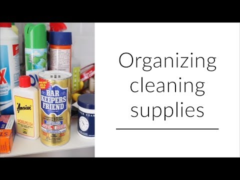 Cleaning supply organization (2018)