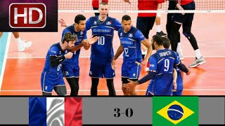 Brazil vs france  | 2018 volleyball nations league mens  - week 4 | extended highlights