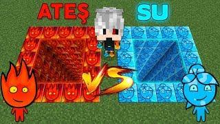 ATEŞ VE SU ÇUKUR ŞANS BLOKLARI - Minecraft