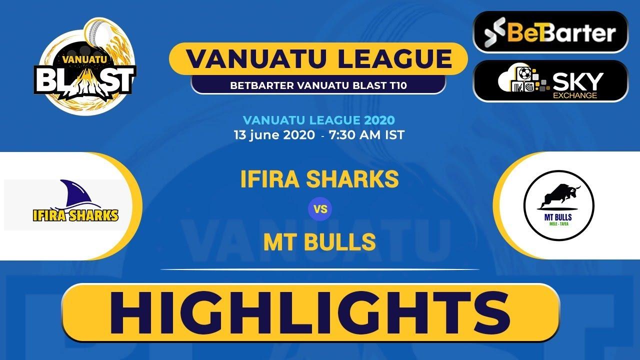 Vanuatu Blast T10 League 2020, Match 9 HIGHLIGHTS - Ifira Sharks T10 vs MT Bulls T10