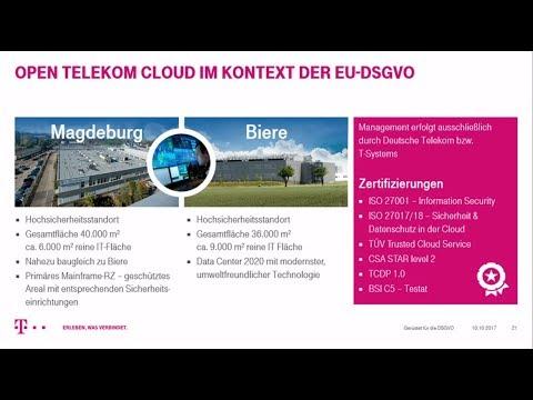 Webcast: Gerüstet für die DSGVO - die Open Telekom Cloud als deutsche Alternative zu US-Clouds