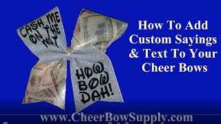 How To Make A Custom Text Glitter Cheer Bow - Cash Me At The Mat - How Bow Dah!