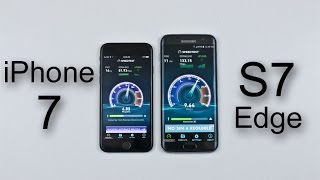 iPhone 7 vs Samsung Galaxy S7 Edge Speed/Battery/Multitasking/Heat Test Comparison Review!
