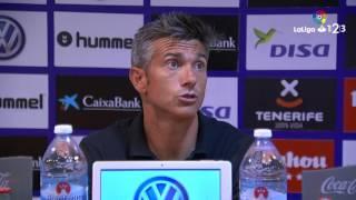 Rueda de prensa de Pep Lluís Martí CD Tenerife vs RCD Mallorca (0-0)