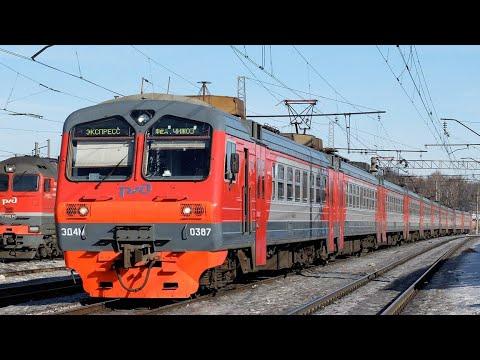 Ярославский вокзал электропоезд ЭД4М-0387 Рекс Москва-Сергиев Посад