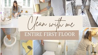 ENTIRE FIRST FLOOR CLEAN 2021 | ULTIMATE CLEANING MOTIVATION | CLEAN AND DECLUTTER