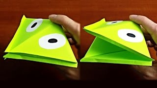 квакающая лягушка из бумаги - Подвижные оригами