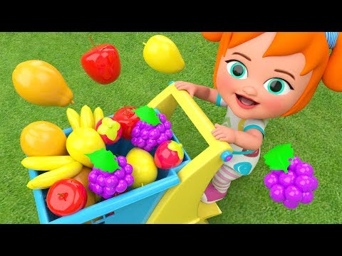 Little Baby Girl Fun Learning Colors & Fruits Names for Children Garden Fruits 3D Kids Educational