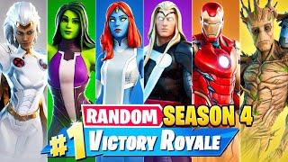 The *RANDOM* SEASON 4 Challenge in Fortnite!