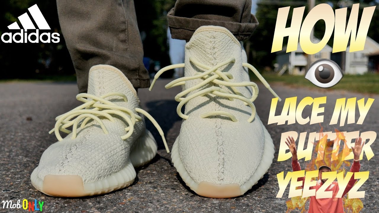 a8ff9409b How I lace My butter Yeezy 350 Boost On Foot 4k Ultra HD Revieww ...
