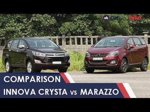 Mahindra Marazzo Vs Toyota Innova Crysta Comparison Review Youtube
