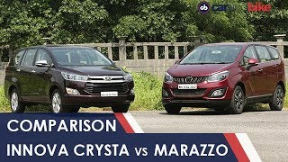 Video Mahindra Marazzo vs Toyota Innova Crysta: Comparison Review download MP3, 3GP, MP4, WEBM, AVI, FLV Oktober 2018