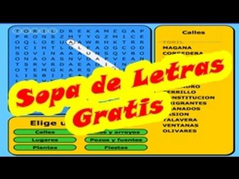 Sopa de Letras en Español