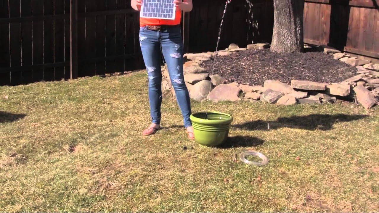 solar waterfall fountain pump kit youtube