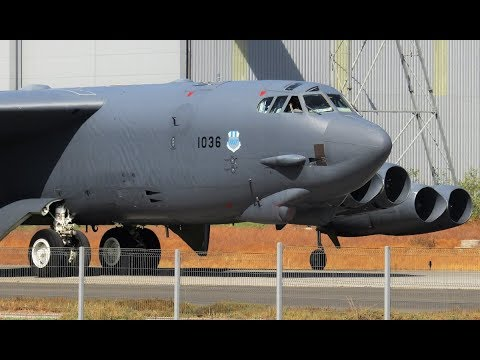 USAF Boeing B-52H Stratofortress [61-036] | Arriving at Sant