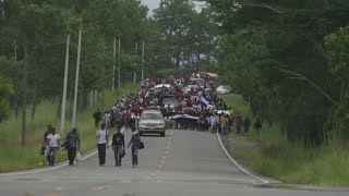 Immigrant crisis on the Mexico-Guatemala border