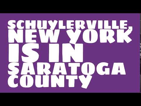 What county is Schuylerville, New York in?