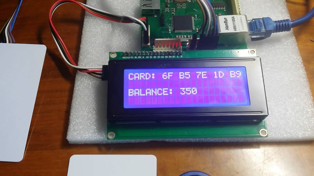 SAS SMIB with RFID reader and LCD by Alex Mina