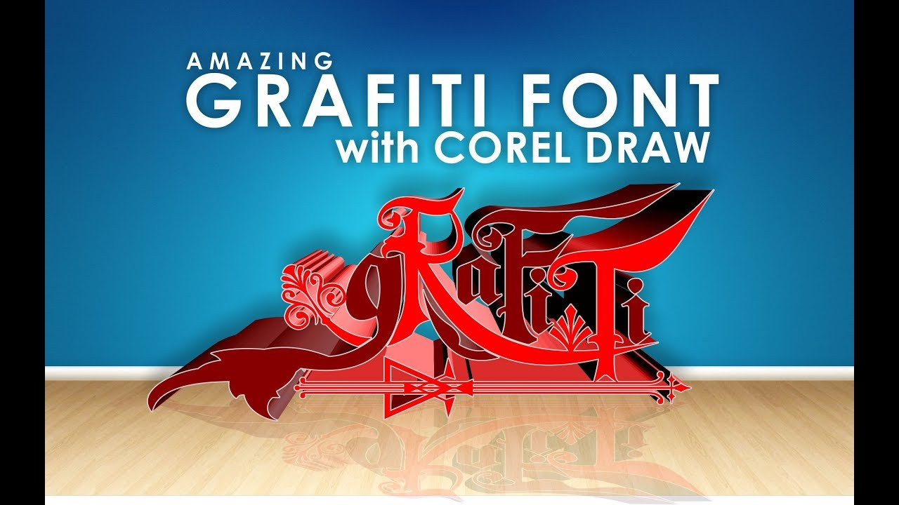 Tutorial corel draw make grafiti with corel draw